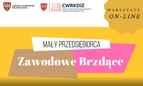 """Warsztaty on-line pt. """"Mały przedsiębiorca- Zawodowe Brzdące"""" luty 2021"""