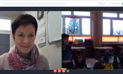 warsztaty Mały przedsiębiorca - Zawodowe brzdące przeprowadzone w dniach 8-10 grudnia w przedszkolu w Krajence