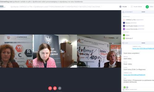 zrzut ekranu Spotkanie z dyrektorami szkol 01 02 2021 (1)