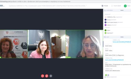 zrzut ekranu Spotkanie z dyrektorami szkol 01 02 2021 (4)