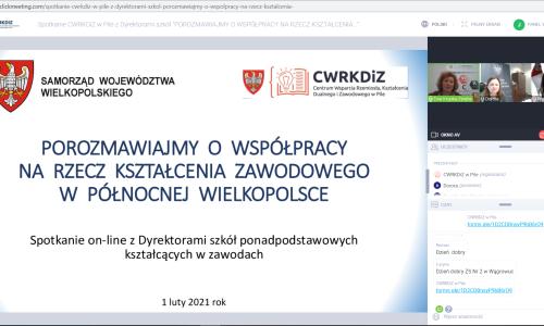 zrzut ekranu Spotkanie z dyrektorami szkol 01 02 2021 (5)