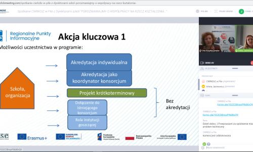 zrzut ekranu Spotkanie z dyrektorami szkol 01 02 2021 (6)