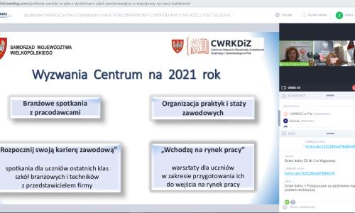 zrzut ekranu Spotkanie z dyrektorami szkol 01 02 2021 (7)