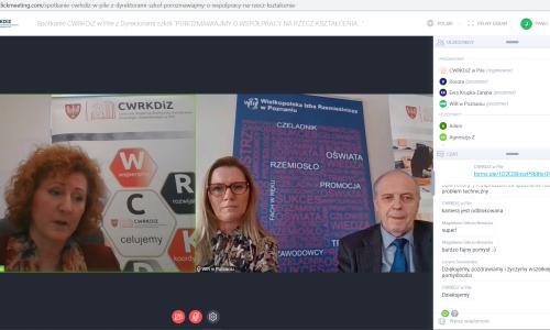 zrzut ekranu Spotkanie z dyrektorami szkol 01 02 2021 (9)
