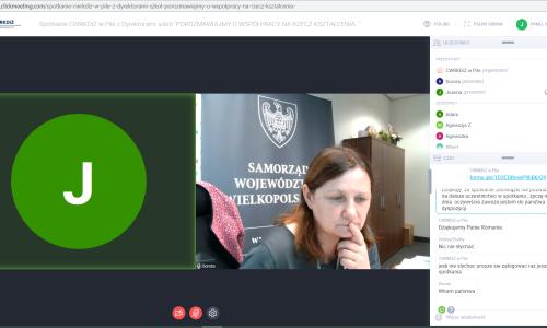 zrzut ekranu Spotkanie z dyrektorami szkol 01 02 2021 (10)