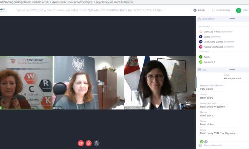 zrzut ekranu Spotkanie z dyrektorami szkol 01 02 2021 (11)