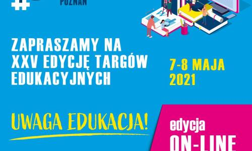 targi edukacyjne 2021 plakat zapraszajacy